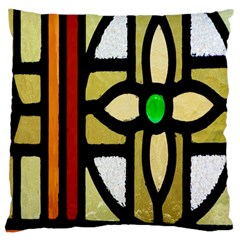 A Detail Of A Stained Glass Window Large Cushion Case (two Sides)