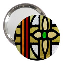 A Detail Of A Stained Glass Window 3  Handbag Mirrors