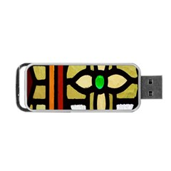 A Detail Of A Stained Glass Window Portable USB Flash (One Side)