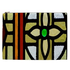 A Detail Of A Stained Glass Window Cosmetic Bag (XXL)