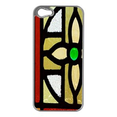 A Detail Of A Stained Glass Window Apple Iphone 5 Case (silver)