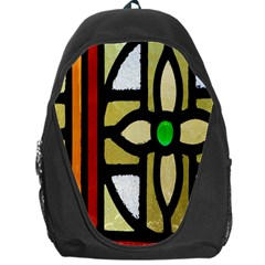 A Detail Of A Stained Glass Window Backpack Bag