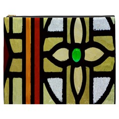 A Detail Of A Stained Glass Window Cosmetic Bag (XXXL)