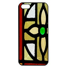 A Detail Of A Stained Glass Window Apple Iphone 5 Seamless Case (black)