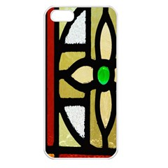 A Detail Of A Stained Glass Window Apple iPhone 5 Seamless Case (White)