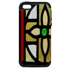 A Detail Of A Stained Glass Window Apple Iphone 5 Hardshell Case (pc+silicone)