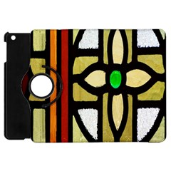 A Detail Of A Stained Glass Window Apple Ipad Mini Flip 360 Case