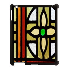 A Detail Of A Stained Glass Window Apple Ipad 3/4 Case (black)