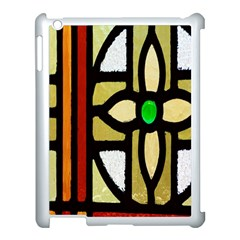 A Detail Of A Stained Glass Window Apple Ipad 3/4 Case (white)