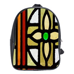 A Detail Of A Stained Glass Window School Bags (XL)