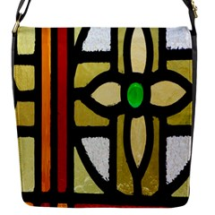 A Detail Of A Stained Glass Window Flap Messenger Bag (s)