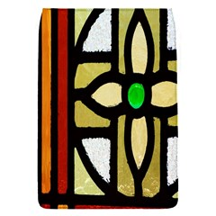 A Detail Of A Stained Glass Window Flap Covers (s)