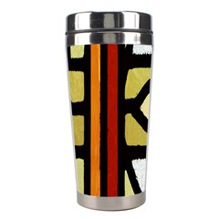 A Detail Of A Stained Glass Window Stainless Steel Travel Tumblers