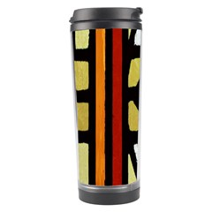 A Detail Of A Stained Glass Window Travel Tumbler