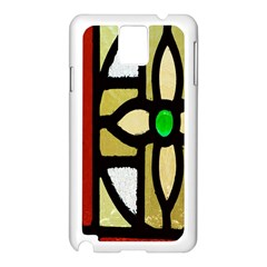 A Detail Of A Stained Glass Window Samsung Galaxy Note 3 N9005 Case (white)