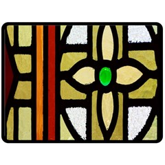 A Detail Of A Stained Glass Window Double Sided Fleece Blanket (large)