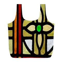 A Detail Of A Stained Glass Window Full Print Recycle Bags (l)