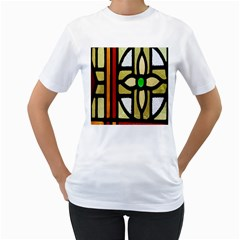 A Detail Of A Stained Glass Window Women s T Shirt (white)