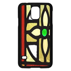 A Detail Of A Stained Glass Window Samsung Galaxy S5 Case (black)