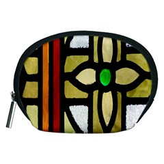 A Detail Of A Stained Glass Window Accessory Pouches (medium)