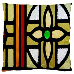 A Detail Of A Stained Glass Window Standard Flano Cushion Case (one Side)