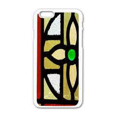 A Detail Of A Stained Glass Window Apple iPhone 6/6S White Enamel Case