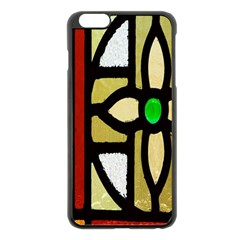 A Detail Of A Stained Glass Window Apple Iphone 6 Plus/6s Plus Black Enamel Case