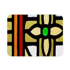 A Detail Of A Stained Glass Window Double Sided Flano Blanket (mini)