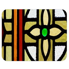A Detail Of A Stained Glass Window Double Sided Flano Blanket (Medium)