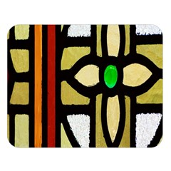 A Detail Of A Stained Glass Window Double Sided Flano Blanket (large)