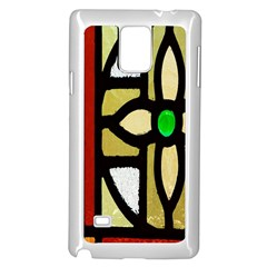 A Detail Of A Stained Glass Window Samsung Galaxy Note 4 Case (white)