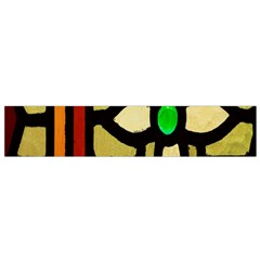 A Detail Of A Stained Glass Window Flano Scarf (small)