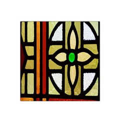 A Detail Of A Stained Glass Window Satin Bandana Scarf