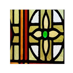 A Detail Of A Stained Glass Window Small Satin Scarf (square)