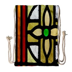 A Detail Of A Stained Glass Window Drawstring Bag (large)