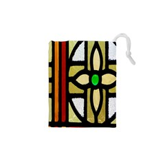 A Detail Of A Stained Glass Window Drawstring Pouches (xs)
