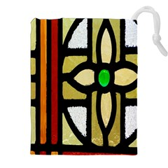 A Detail Of A Stained Glass Window Drawstring Pouches (xxl)