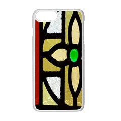 A Detail Of A Stained Glass Window Apple Iphone 7 Plus White Seamless Case