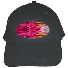 Abstract Pink Colorful Water Background Black Cap