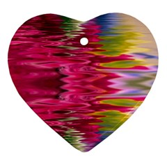Abstract Pink Colorful Water Background Ornament (Heart)