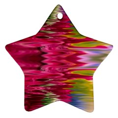 Abstract Pink Colorful Water Background Ornament (star)