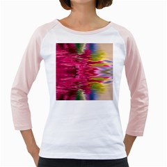 Abstract Pink Colorful Water Background Girly Raglans