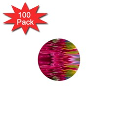 Abstract Pink Colorful Water Background 1  Mini Buttons (100 Pack)