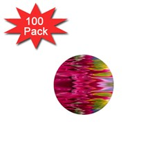 Abstract Pink Colorful Water Background 1  Mini Magnets (100 Pack)