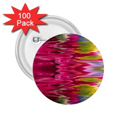 Abstract Pink Colorful Water Background 2.25  Buttons (100 pack)