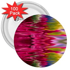 Abstract Pink Colorful Water Background 3  Buttons (100 Pack)