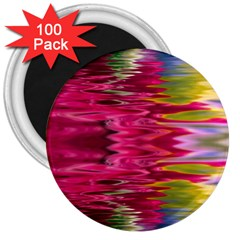 Abstract Pink Colorful Water Background 3  Magnets (100 pack)