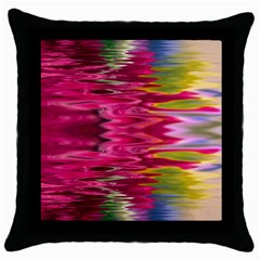Abstract Pink Colorful Water Background Throw Pillow Case (Black)