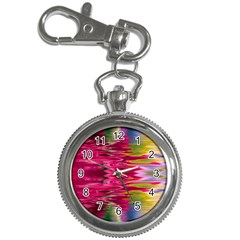 Abstract Pink Colorful Water Background Key Chain Watches