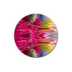 Abstract Pink Colorful Water Background Magnet 3  (round)